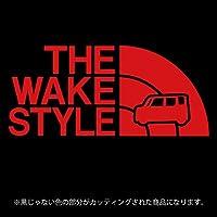 ウェイク ステッカー THE WAKE STYLE【カッティングシート】パロディ シール(12色から選べます) (赤)