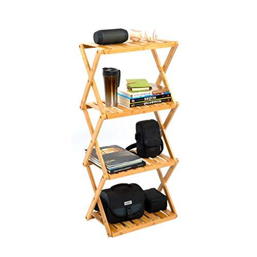 JKL-Computer Portatile Scaffale a 4 Strati, portabottiglie in bambù e in Legno