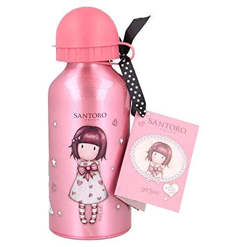 Botella de aluminio para niños, 400 ml, con boquilla retráctil (Gorjuss Santoro)