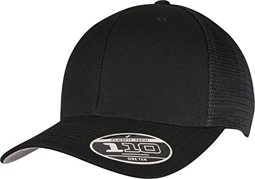 Flexfit Unisex 110 MESH Cap Baseballkappe, Black, one Size