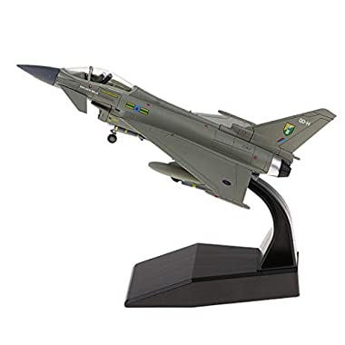 Bonarty 1:100 EF-2000 Eurofighter Typhoon Model, Diecast Plane Metal Aircraft Toys Air Plane Model for Gift or…