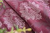 Cortinas de jacquard de lujo europeas para sala de estar Cortinas beige Cortina de tela de panel de ventana para sombreado de dormitorio 80% personalizado, tela de color 3, 1 pieza W100cm x H260cm