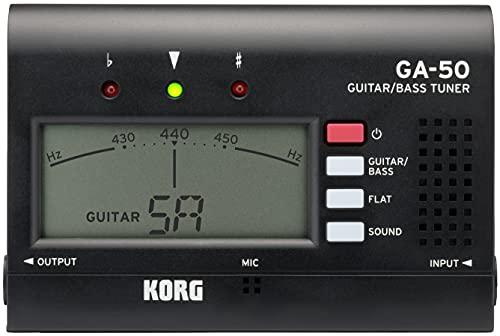 KORG ギター/ベース用チューナー GA-50 個人練習に最適 アウトプット有り 多弦ギター 多弦ベース フラットチューニング ロングスケールにも対応 135時間連続稼働 軽量 コンパクト