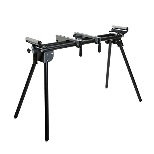 Wolf Universal Mitre Saw Stand Workshop Platform with Folding Legs, Extending Support Arms & Rollers