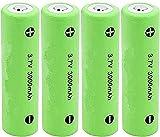 18650 batería de Litio 3.7V 3000mAh baterías Recargables de Litio para Linterna 4pcs