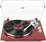 1 BY ONE Belt-Drive Wireless Turntable & Record Player with Audio-Technica MM Phono