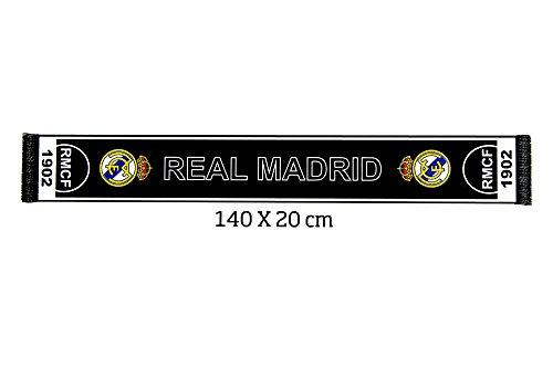 Real Madrid Schal, Unisex, Erwachsene, Schwarz, Hersteller: Einheitsgröße