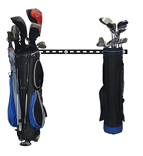 GearHooks Golf Trolley and Bag Storage For Easy Cart Travel Space Saving Clubs Holder For Women Men Easy Fit To Keep Your Kit Tidy Wall Mountable Heavy Duty Made In The UK