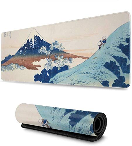 Hokusai Mount Fuji Japan Mousepad Non-Slip Rubber Gaming Mouse Pad Mouse Pads for Computers Laptop 11.8 X 31.5 in