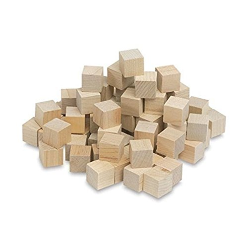 Wooden Cubes - 3/4 Inch - Wood Square Blocks For Math, Puzzle Making, Crafts & DIY Projects (3/4') - by Craftparts Direct - Bag of 2000