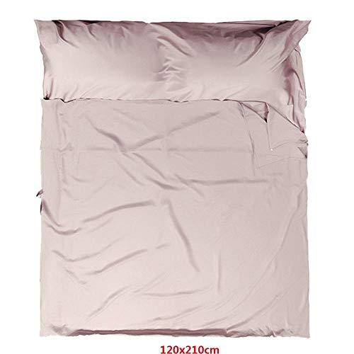 Ultraleichter tragbarer einfarbiger Schlafsack aus natürlicher Baumwolle, bequem und atmungsaktiv, geeignet für Hotels in der Reisebranche 120 x 210 cm (Breite x Länge)