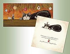 Long card Glitter embellishment Full color inside design 14 cards/14 envelopes Regular postage