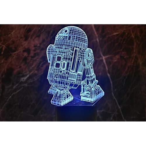 Luce notturna 3D con illusione ottica, touch LED, lampada da tavolo da scrivania, 7 colori, alimentata tramite USB, interruttore touch, luce notturna da scrivania, idea regalo per bambini e amici