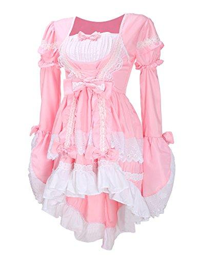LATH.PIN Vestito Lolita Adult Anime Carino Gotico Cosplay Vestito Cameriera Ristorante Halloween Vestito Costume Anime per Festa Compleanno Natale