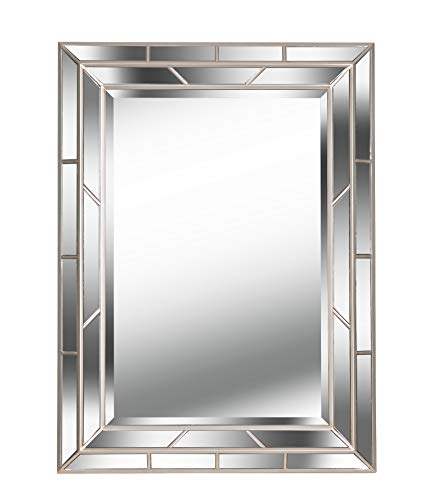 Kenroy Home Classic Wall Mirror ,38 Inch Height, 1.5 Inch Length, 28 Inch Width with Bright Champagne