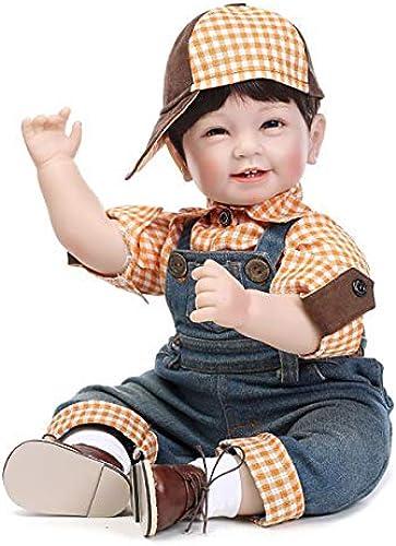 Baby Reborn Puppe,Real Lifüreborn Babypuppe SammlerStück 22 Zoll Nette L elnde Junge Weißen   Baby Kuscheln Puppe Spielzeug Geschenk Set