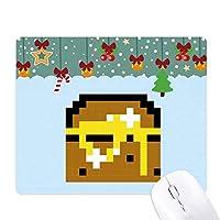 画素の夏のセールの箱のトレジャーハント ゲーム用スライドゴムのマウスパッドクリスマス