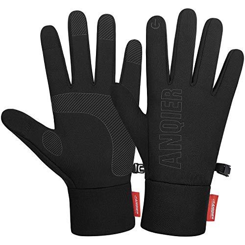 Anqier Handschuhe Herren Damen Fahrradhandschuhe Männer Touchscreen Handschuhe rutschfest Roller Handschuhe Damen Outdoor Laufhandschuhe Winter zum Wandern Bergsteigen Radfahren