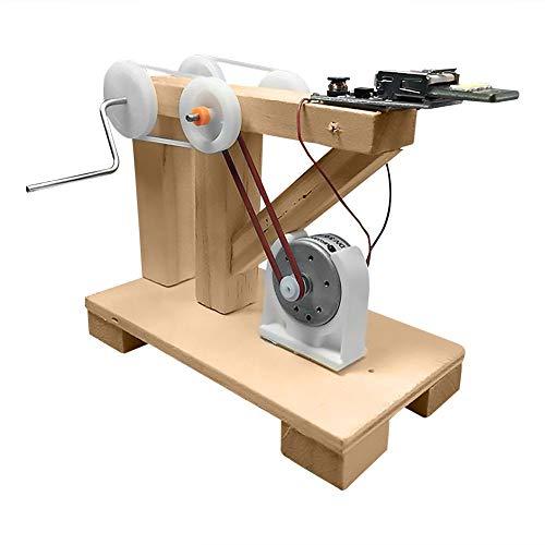 VGEBY1 Juguete del generador de la Electricidad, Juguetes manuales del Arte Educativo de los niños del Sistema Manual del generador de la Mano de DIY