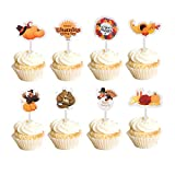 Amazing Set - Mortime Thanksgiving cupcake decoration set includes 72 pieces of cupcake toppers, 9 pcs of each pattern. Each adorable cupcake topper is well-crafted and pre-assembled with a stick so you can insert it directly. It will save you a lot ...