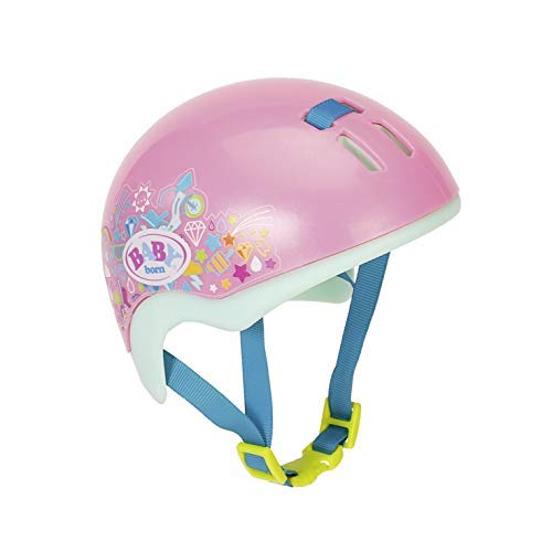 Zapf Creation 827215 BABY born Play&Fun fietshelm 43cm, roze, mint