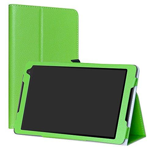 Labanema Alcatel A3 (10) 4G Custodia, PU Pelle Slim Flip Case Cover Protettiva Pieghevole Stand per 10.1  Alcatel A3 (10) 4G Tablet - Verde