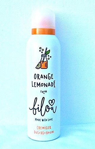 Bilou Orangen Lemonade/Orange Lemonade Cremiger Duschschaum Vegan 200 ml