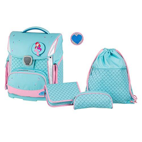 Schulranzenset Plus mit Federmappe, Schlamper und Sportbeutel, Shells, leicht, ergonomisch, 4 teilig