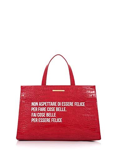 LE PANDORINE Borsa Cocco Shopper Felice Red