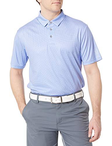 PGA TOUR Herren Mini Gingham Print Short Sleeve Golf Polo Shirt Golfhemd, Dazzling Blue, Klein
