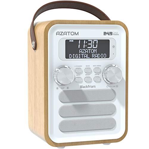 Blackfriars Retro DAB/DAB+ Digital FM Portable Radio/Alarm Clock/Real Wood...