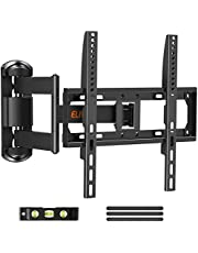 Full Motion TV Mount TV Wall Mount Swivel and Tilt for Most 26-55 Inch Flat Curved TVs, Wall Mount TV Bracket with Articulating 6 Arm for Max VESA 400x400mm, 88 lbs. Single Stud Corner TV Mount ELIVED