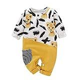 KUDICO Vêtements Hiver Combinaison Bébé Fille Garçon Manches Longues Impression de Lion Couture Onesies pour Enfant 0 à 2 Ans