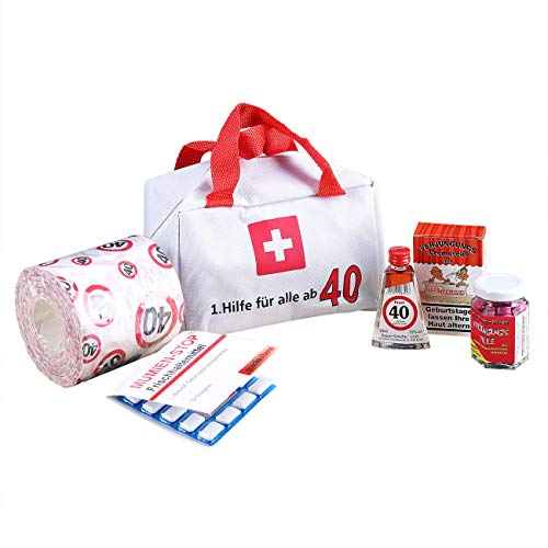 Lustapotheke® 40. Geburtstag Erste Hilfe Koffer für die Frau und den Mann zum (6-teilig) als lustige Geschenkidee
