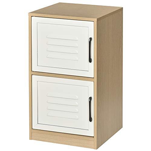 Vinsetto Mobiletto Portadocumenti da Ufficio in Legno e Metallo con 2 Ripiani per Documenti in Formato A4, 38.5x39x68cm