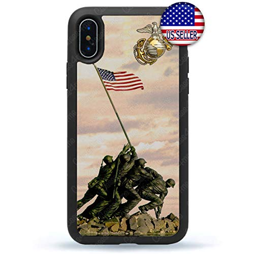 US Raised The Iwo Jima Flag Marines Slim Shockproof Hard Rubber Custom Case Cover for iPhone 11 Pro Max Xs XR 8 Plus