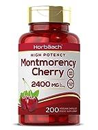 Montmorency Cherry 2400mg | 200 Capsules | High Strength Tart Cherry Extract | Antioxidant Rich | No...