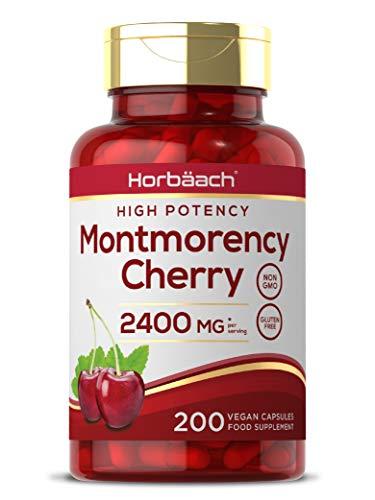 Montmorency Cherry 2400mg | 200 Capsules | High Strength Tart Cherry Extract | Antioxidant Rich | Non-GMO, Gluten Free Supplement