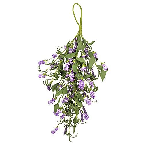 NIUXICH Corona de lágrima para puerta frontal, corona de flores artificiales, para decoración de puerta, boda, arco de fiesta