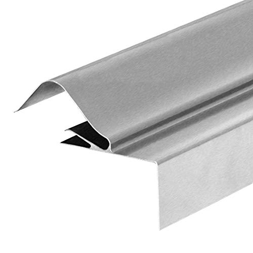Mill (Unpainted), 3m Corrugated Roof Side Flashing Aluminium Gable End Lean-to Trim Shed Garage Barn Corrapol-BT Roofing