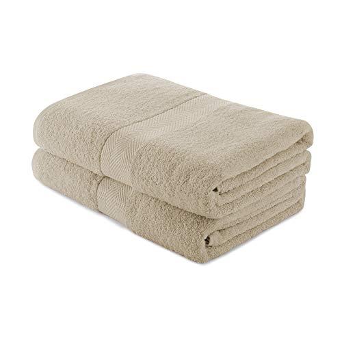 Charles Wilson Handtuch-Set 100% Baumwolle 500g/m² (2 Handtücher, Beige (0120))