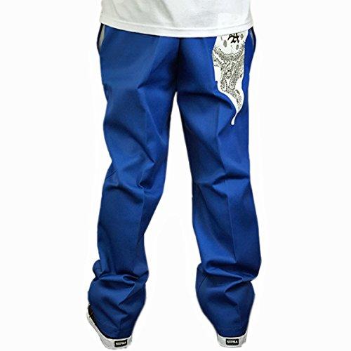 ディッキーズ バンダナ柄 プリント パンツ 874 メンズ ブルー 青 カスタム 白 DKP-21 (40インチ)