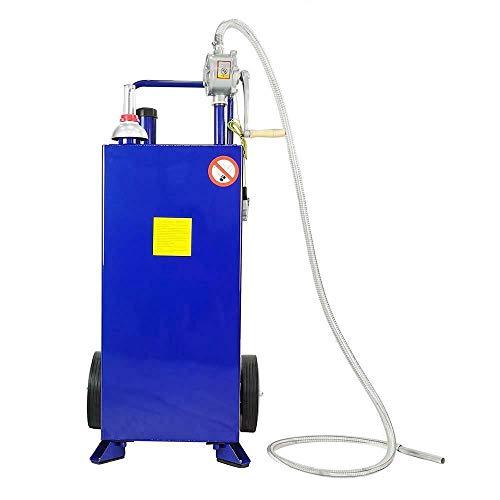 Parts-Diyer 30 Gallon Portable Fuel Transfer Gas Cans Caddy Storage Gasoline Tank, Blue
