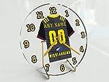 FanPlastic Horloges de bureau en jersey super rugby – n'importe quel nom, n'importe quel numéro, n'importe quelle équipe., Otago Highlanders.