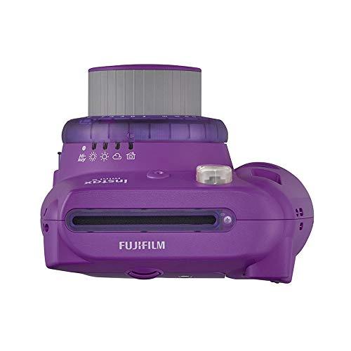 Fujifilm instax Mini 9 Kamera mit Farblinsen, lila + Mini Instant Film, 1x 10 Blatt (10 Blatt), Weiß