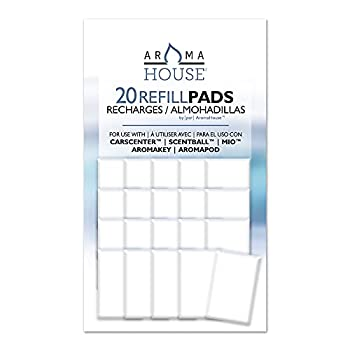 AromaHouse Aromatherapy Diffuser Unscented Refill Pads for Essential Oil for Use with ScentBall Carsceter Aromakey Aromapod & Mio 20 Pack
