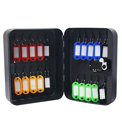 Armoires à clés Boîte de clé de Mot de Passe à 36 Chiffres Armoire de Gestion des clés Boîte à clés Murale Porte-clés avec Porte-clés (Color : Black, Size : 23.8 * 7.8 * 29.8cm)