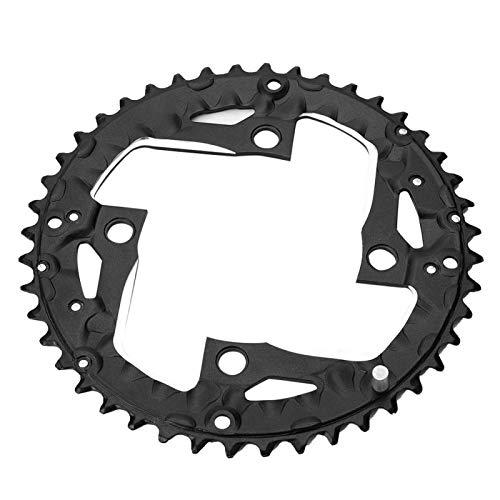 DAUERHAFT Plato de Bicicleta, Redondo Ovalado 104BCD 44T Plato Ancho Estrecho Plato único, para Bicicleta de Carretera de 9 velocidades Bicicleta de montaña Ciclismo BMX MTB