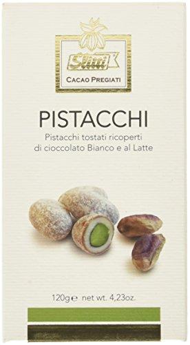 Slitti Pistacchi di Bronte Rivestiti di Cioccolato Bianco e al Latte - 120 g