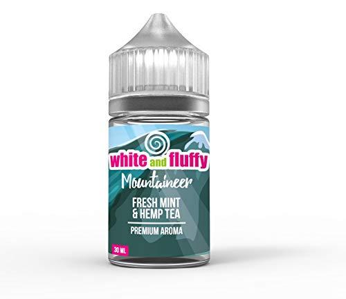 "Aroma Konzentrat nikotinfrei - White and Fluffy® Mountaineer""FRESH MINT & HEMP TEA"" PREMIUM Aroma Liquid ohne Nikotin • 30ml zum Mischen mit Basisliquid - Test-Note 1,2"